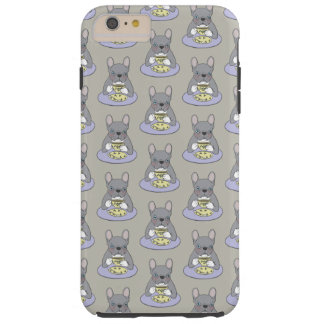 High Teas with Cute Blue Brindle Frenchie Tough iPhone 6 Plus Case