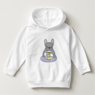 High Teas with Sweet and Cute Blue Brindle French Hoodie