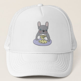 High Teas with Sweet and Cute Blue Brindle French Trucker Hat