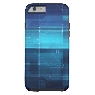 High tech background tough iPhone 6 case