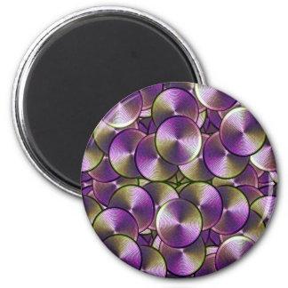 High-Tech Circles Design Fridge Magnets
