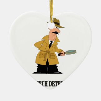 high tech detective ceramic ornament