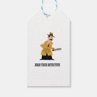high tech detective gift tags