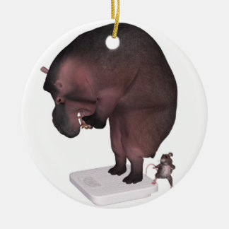 High Time For A Diet Ceramic Ornament