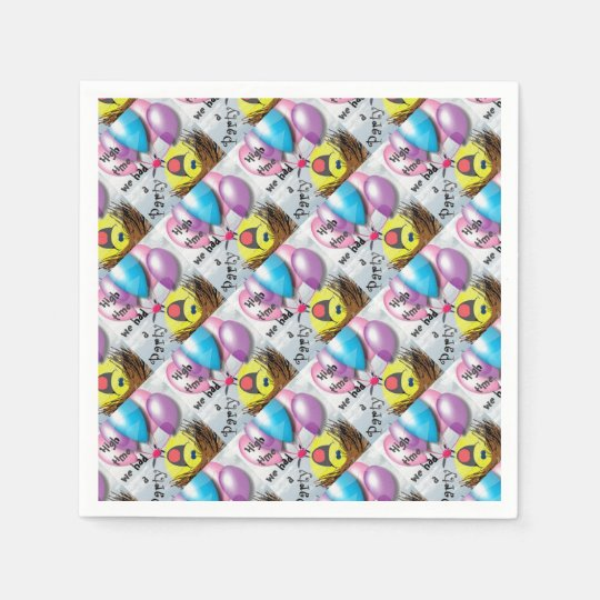 .High time for a party Paper Napkins