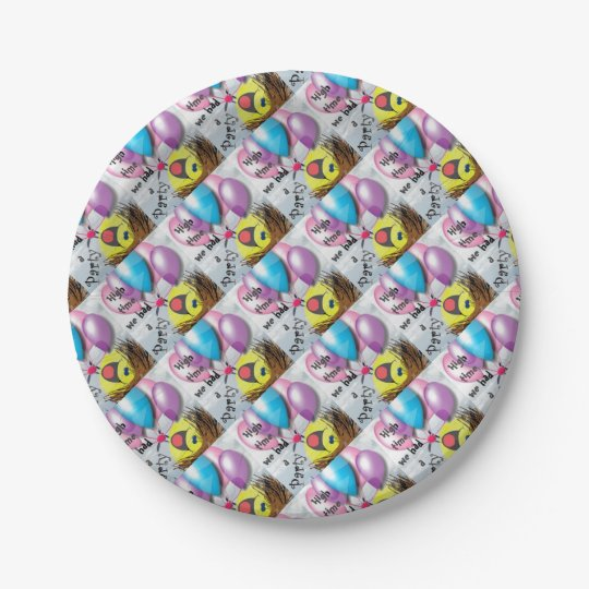 .High time for a party Paper Plate