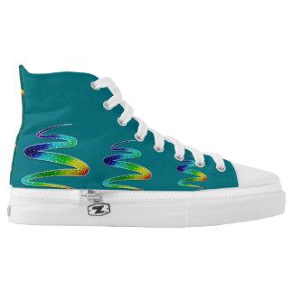 High Top of unique custom sneakers