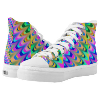 High top shoe mixed colours