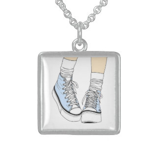 High top shoe necklace