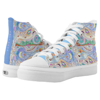 High Top Shoes - Driftwood Art Design / with Print Printed Shoes
