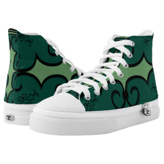 High Top Shoes IRONWORK SCROLLWORK 3 Printed Shoes