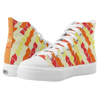High Top Shoes - Sun Glint Design / Print Printed Shoes