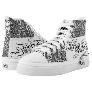 High Top Shoes VonHolm Lace Design Printed Shoes