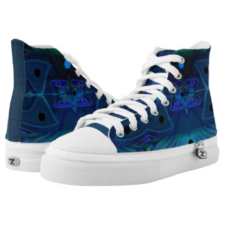 High Top Shoes w. Digital Art 'Spaceship Interior'