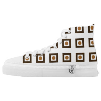 High Top Shoes with Squares and Dots