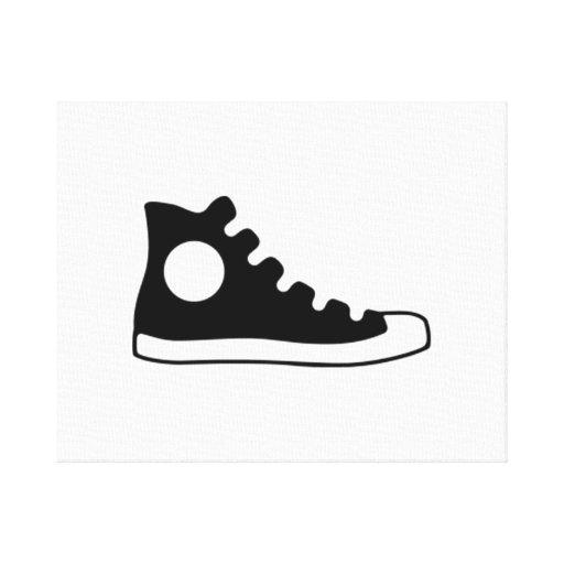 High Top Sneaker Canvas Print