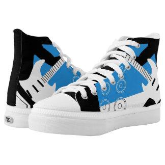 high top sneaker with guitar design