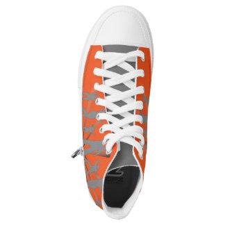 High tops orange designer converse Sneakers