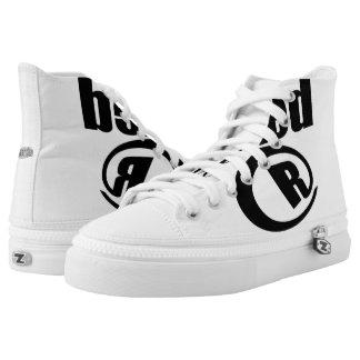 High Tops Rated R Raskal Love Sneakers/Kicks Printed Shoes