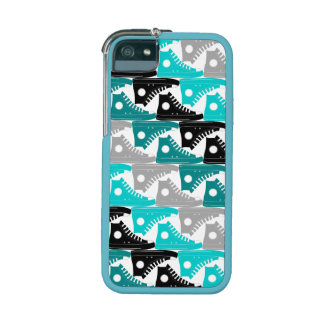 High Tops Teal-n-Black Shoes iPhone 5/5S Cover