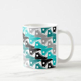 High Tops Teal-n-Black Shoes Coffee Mug