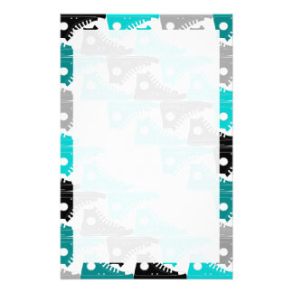 High Tops Teal-n-Black Shoes Stationery Paper