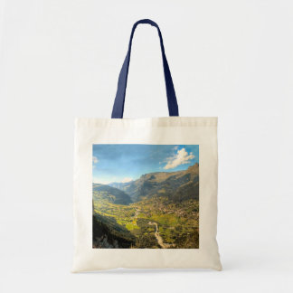 High valley in the mountains tote bag