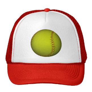 High Visibility Yellow Softball Hat