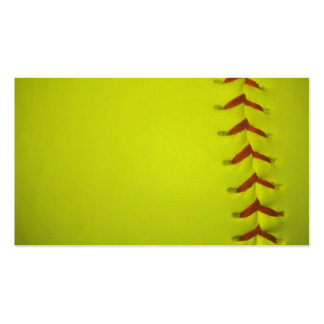 High Visibility Yellow Softball Pack Of Standard Business Cards