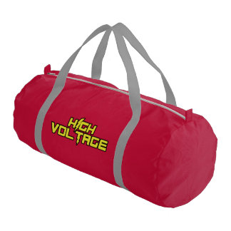 High Voltage Gym Bag (Red) Gym Duffel Bag