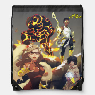 High Voltage Heroes Drawstring Backpack
