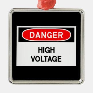 high voltage metal ornament