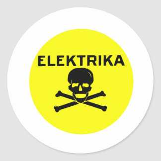 High Voltage! Round Sticker