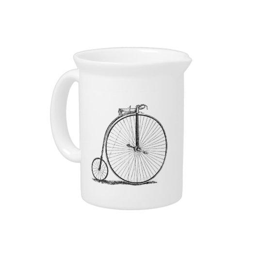 High Wheeler Victorian Penny Farthing Cycle Biking Pitcher
