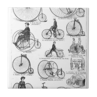 High Wheeler Victorian Penny Farthing Cycle Biking Tile
