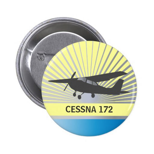 High Wing Aircraft Pinback Buttons