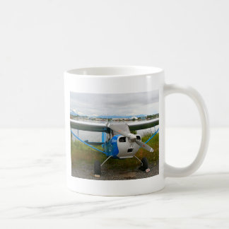 High wing aircraft, blue & white, Alaska Coffee Mug