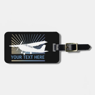 High Wing Aircraft - Custom Text Bag Tag