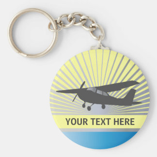 High Wing Aircraft - Custom Text Key Chains