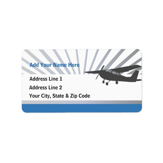High Wing Aviation Customisable Address Labels