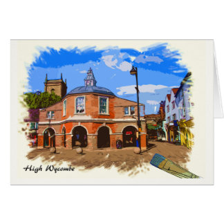 High Wycombe Pepper Pot Artwork Greeting Card