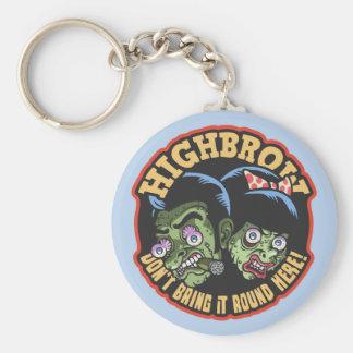 Highbrow Basic Round Button Key Ring