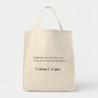 Higher vibration natural beige tote bag