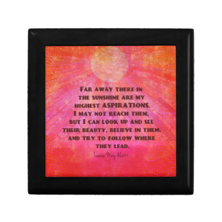 Highest Aspirations quote Louisa May Alcott Gift Box