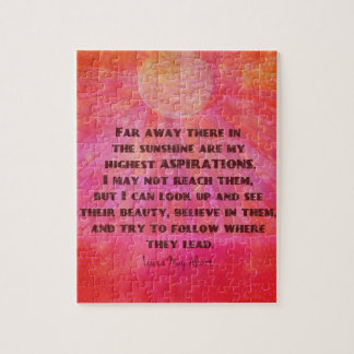 Highest Aspirations quote Louisa May Alcott Jigsaw Puzzle