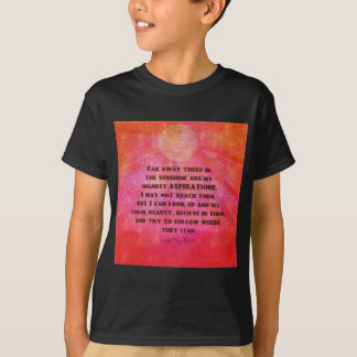 Highest Aspirations quote Louisa May Alcott T-Shirt