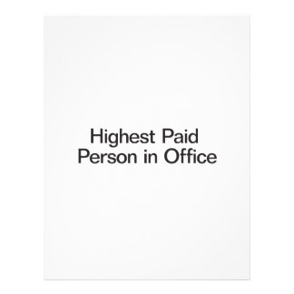 Highest Paid Person in Office ai Custom Flyer