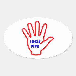 HIGHFIVE :  KIDS motivational Tool for Teachers Oval Sticker