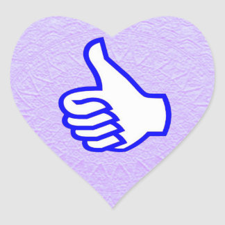 HIGHFIVE THUMSUP VICTORY CROSS EXCELLENT HEART STICKER