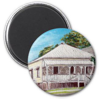 Highgate Hill Old Queenslander 6 Cm Round Magnet